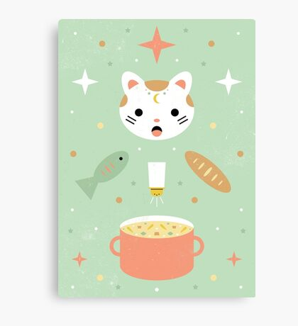Star Kitten's Lunch  Canvas Print