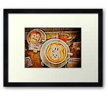 Year of the Rabbit Latte  Framed Print