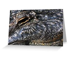 Gator Eye Greeting Card