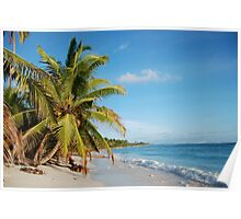 West Island back beach - Cocos (Keeling) Islands Poster