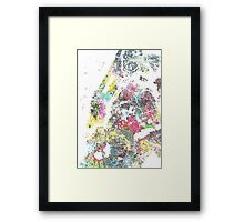 New York splash painting map Framed Print