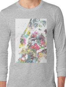 New York splash painting map Long Sleeve T-Shirt
