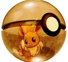 Eevee | Pokeball by SALSAMAN