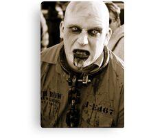 Convict Zombie. Canvas Print