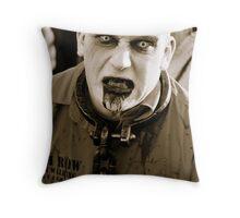 Convict Zombie. Throw Pillow