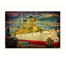 The Cruiser Olympia Art Print