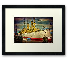 The Cruiser Olympia Framed Print