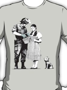 """Banksy """"Stop and Search"""" T-Shirt"""
