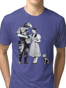 """Banksy """"Stop and Search"""" Tri-blend T-Shirt"""
