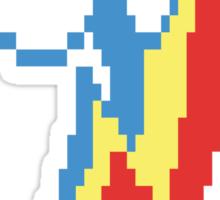 8-Bit Rainbow Dash Cutie Mark Sticker