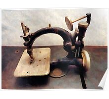 Victorian Sewing Machine Poster