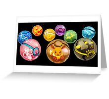 Eevee Evolution | Pokeball Greeting Card
