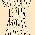 my brain is 80%...MOVIE QUOTES by FandomizedRose