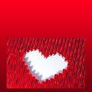 Love, beaded (iPhone case) by Lenka