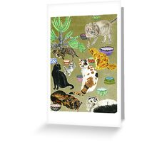 The Cats of R. Greeting Card