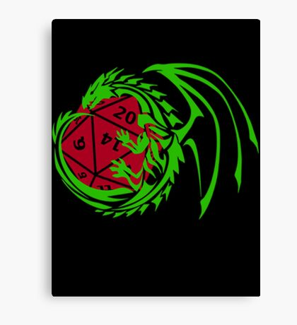 Dungeons and Dragons - Custom Colors Available! Canvas Print