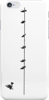 7 Birds on a wire - iPhone case by Kristina Gale