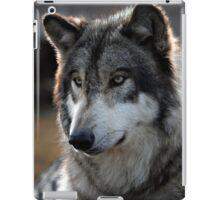 back light wolf iPad Case/Skin