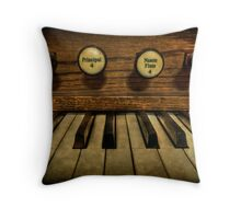 Facing The Music Throw Pillow