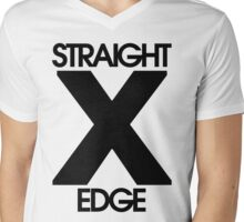 Straightedge Mens V-Neck T-Shirt