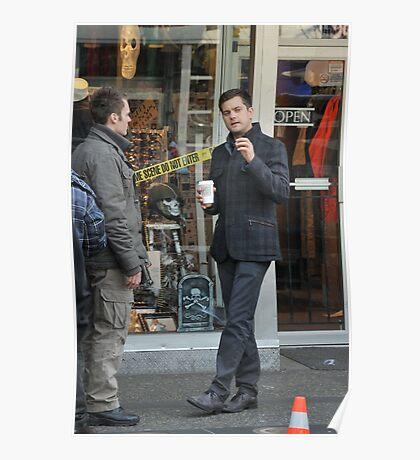 Joshua Jackson on set for 'Fringe'  Poster