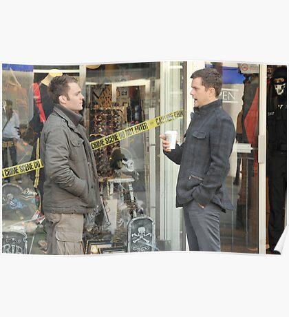 Joshua Jackson and Seth Gable on set for 'Fringe'  Poster