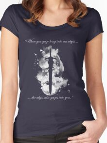 Artorias of the Abyss (White) Women's Fitted Scoop T-Shirt