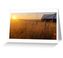 Golden Barn HDR Greeting Card