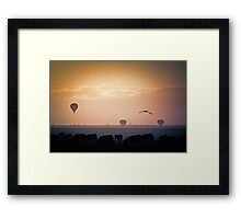 Beasts, Birds and Balloons Framed Print