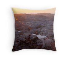 Barren Coastal Rocks Throw Pillow