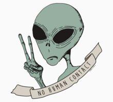 No Human Contact One Piece - Long Sleeve
