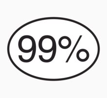 99% - Window Sticker by Donald Salsbury