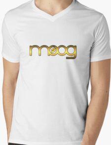 Golden Vintage Moog Synth Mens V-Neck T-Shirt