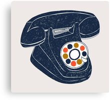 Retro Telephone Canvas Print