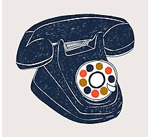 Retro Telephone Photographic Print