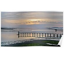 Sunrise On Tomales Bay, Inverness, Marin County, California Poster