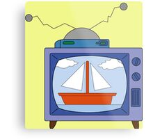 simpsons tv Metal Print