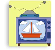 simpsons tv Canvas Print