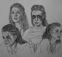CW  The 100 - Clarke Griffin, Octavia Blake, Commander Lexa, Raven Reyes. by Annie Cameron