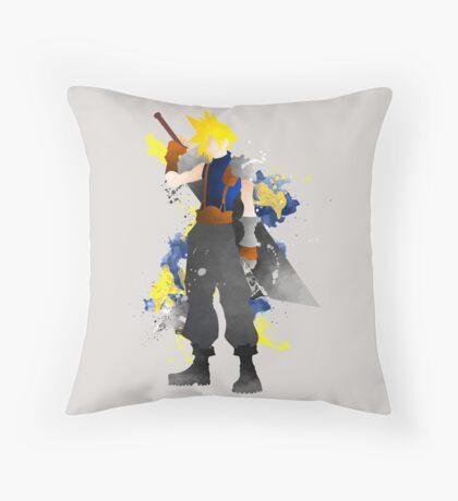 Final Fantasy 7: Cloud Strife Giclee Art Print Throw Pillow