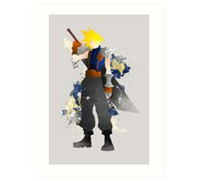 Final Fantasy 7: Cloud Strife Giclee Art Print Art Print