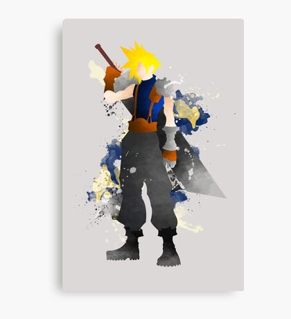 Final Fantasy 7: Cloud Strife Giclee Art Print Canvas Print