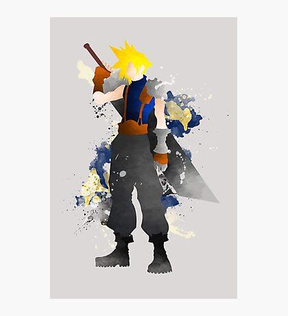 Final Fantasy 7: Cloud Strife Giclee Art Print Photographic Print