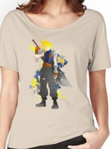 Final Fantasy 7: Cloud Strife Giclee Art Print Women's Relaxed Fit T-Shirt