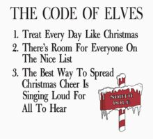 The Code of Elves by waywardtees