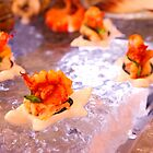 shrimp canape on ice by andre joceline
