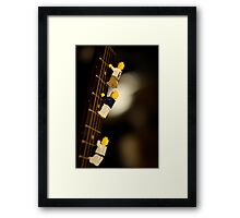The First Legos to reach the top of Mt. Guitarist Framed Print