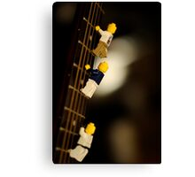 The First Legos to reach the top of Mt. Guitarist Canvas Print