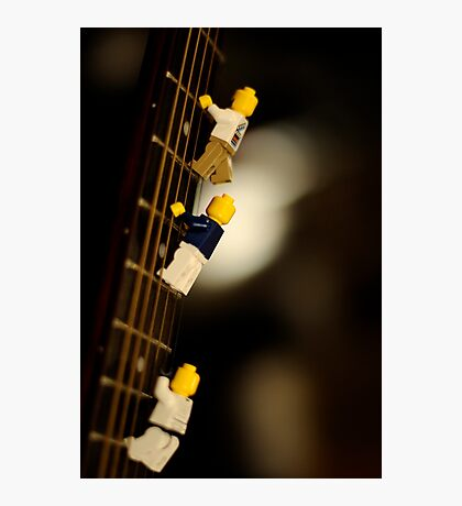 The First Legos to reach the top of Mt. Guitarist Photographic Print