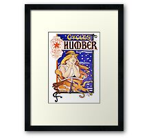 Humber Cycles 1890s Vintage Advertising Poster Framed Print